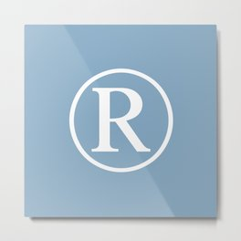 Registered Trademark Sign on placid blue background Metal Print