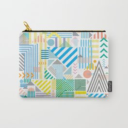Geometric Mountain Landscape Carry-All Pouch