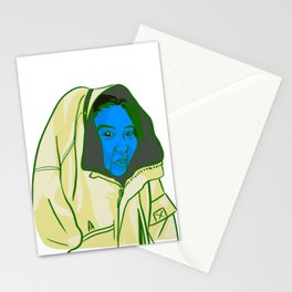 Blue Face Stationery Cards