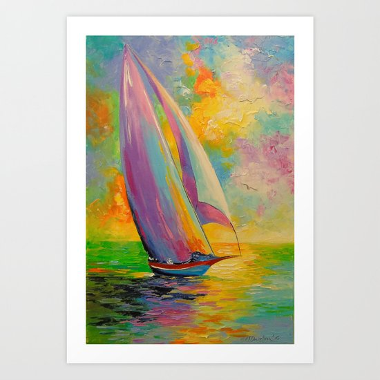 A fresh breeze Art Print