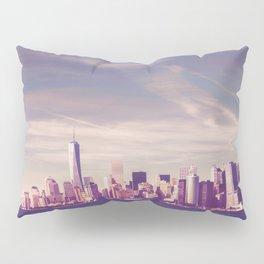 New York City Skyline Waterfront Pillow Sham