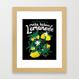 Kickass Lemonade Framed Art Print