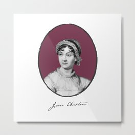 Authors - Jane Austen Metal Print
