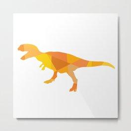 Tiranosaurus rex in orange mix colors Metal Print