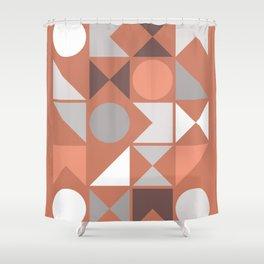 Mid Century Modern Geometric 18 Shower Curtain