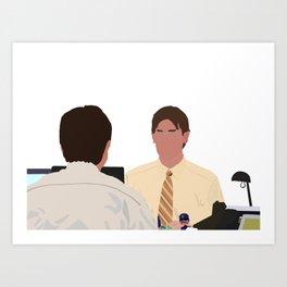 Jim/Dwight Bears Beats Battlestar Galactica Art Print