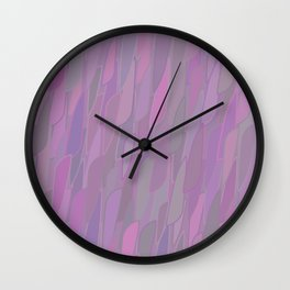 Soothed by Lilac Wall Clock