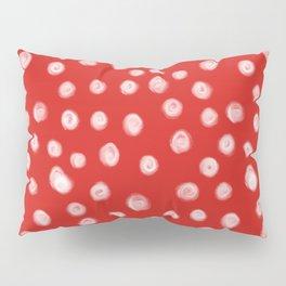 Basic red and white dots love valentines day minimal polka dot pattern Pillow Sham