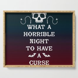 Gamer Geeky Chic Castlevania Inspired What a Horrible Night to Have a Curse Serving Tray