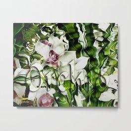 Liquid Orchid by Artist McKenzie http://www.McKenzieArtStudio.com Metal Print