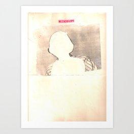 """withdrawn"" Art Print"