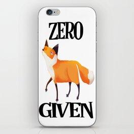 0 Fox Given iPhone Skin