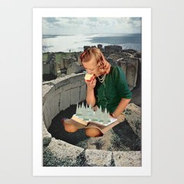 Girl Sees Art Print