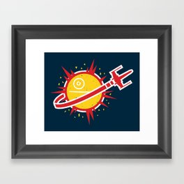 Great Shot, Kid! Framed Art Print