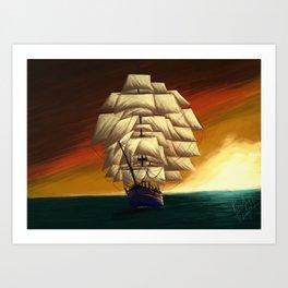 The Ship of a Thousand Sails  Art Print
