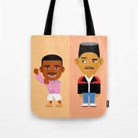 fresh prince Tote Bags featuring The Fresh Prince by Evan Gaskin