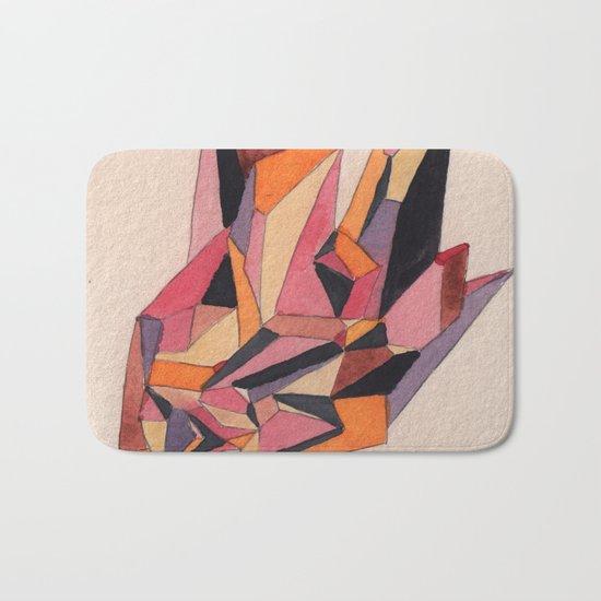 Warm Geometric Watercolour Bath Mat