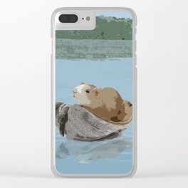 Guinea Pig's Great Adventure Clear iPhone Case