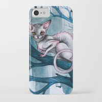 cheshire iPhone & iPod Cases featuring Cheshire Cat by Black Fury