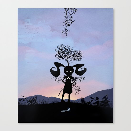 Poison Ivy Kid Canvas Print