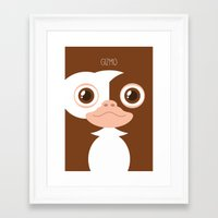 gizmo Framed Art Prints featuring Gizmo by La Fabrique de Posters