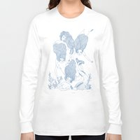 mermaids Long Sleeve T-shirts featuring Mermaids by Veils and Mirrors