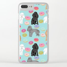 Toy Poodle donuts pet portrait dog breed dog pattern pet friendly dog lovers Clear iPhone Case