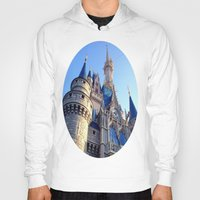castle Hoodies featuring Castle by Jillian Stanton