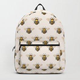 Honey Bee - Tan (Pattern) Backpack