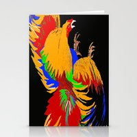 cock Stationery Cards featuring Cock Fight by Saundra Myles