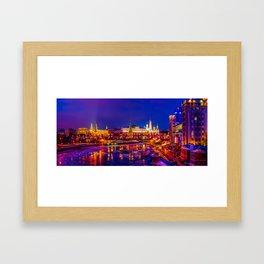 Panoramic View Of Moscow Kremlin Framed Art Print