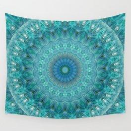Mandala luminous Opal Wall Tapestry