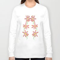daisies Long Sleeve T-shirts featuring Daisies by Angelz