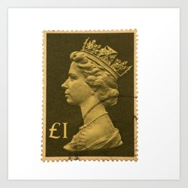 Pound Stamp Art Print