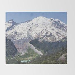 Mount Rainier on the Sunrise Side Throw Blanket