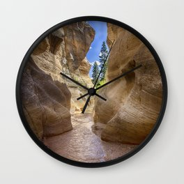 At the End of the Canyon - Grand Staircase of the Escalante - Utah Wall Clock