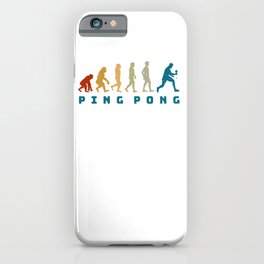 Table Tennis Retro Evolution Of Ping Pong iPhone Case
