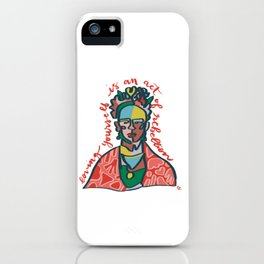 Frida Rebel // Loving yourself is an act of rebellion iPhone Case