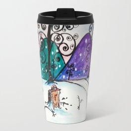 Holly Sled Travel Mug
