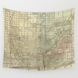 Vintage Map of Chicago (1857) Wall Tapestry