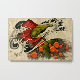 Salmon Eggs Metal Print