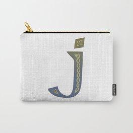 Celtic Knotwork Alphabet - Letter J Carry-All Pouch