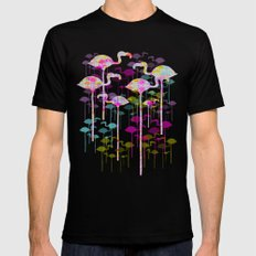 Flamingo Land Black LARGE Mens Fitted Tee