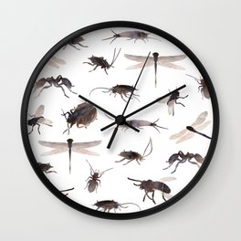 insects colabb. Wall Clock