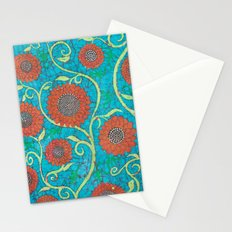 Kate's Flower Batik 2 Stationery Cards