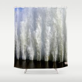 When Sandy Made Waves in Chicago #2 (Chicago Waves Collection) Shower Curtain