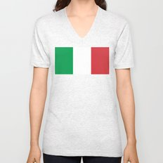 Flag of Italy, High Quality Authentic Unisex V-Neck