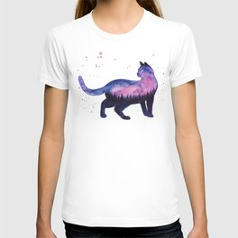 Galaxy Forest Cat T-shirt