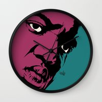 notorious Wall Clocks featuring Notorious by Vee Ladwa