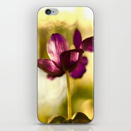 Glowing Purple Flower #decor #buyart #society6 iPhone Skin